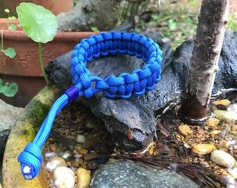 Custom Single Color Adjustable Paracord Bracelet
