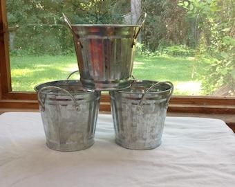 Farmhouse galvanized buckets organization planters vintage look