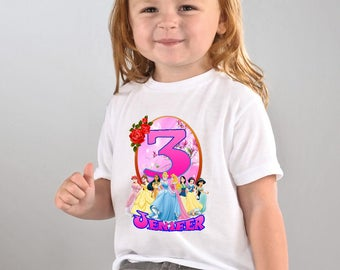 Disney Princess birthday Shirt, Disney Princess Custom Shirt, Disney Princess Personalized Shirt, Disney Princess shirts, Birthday t-shirts