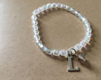 Crystal L Stretch Bracelet