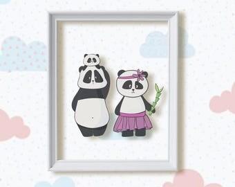 Family Nursery Decor, baby shower gift, baby gift, baby animals, nursery wall, nursery wall art, new baby gift, nursery art, animal print