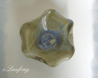 Original floral grey-blue stoneware Cup