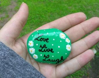 Painted rock (Love, Live, Laugh)