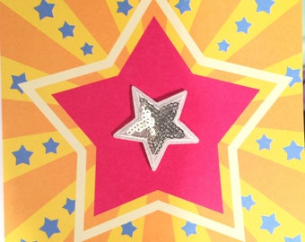 Fusible Applique Patch Patch embroidered silver rhinestone star
