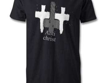 Anti christ, the sign of confession black t-shirt
