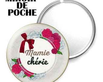 Mirror - badge - 56mm - Darling Grandma
