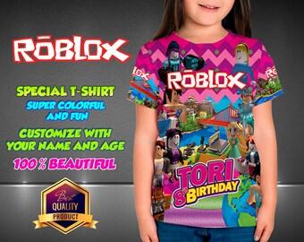 Roblox Girl Birthday Shirt,  Custom Shirt, Girl Roblox Personalized Shirt,  family shirts, Roblox Birthday t-shirts Roblox Disney Family