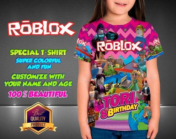 roblox girl birthday shirt custom shirt girl roblox