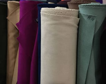 100% pure wool fabric, Double-sided cashmere, by the half yard