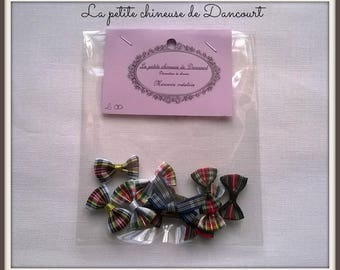 Scottish bag of 10 bows in assorted colors
