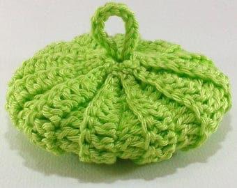 9 cm lime green cotton Tawashi