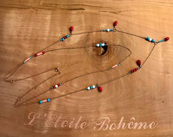 Romantic and elegant necklace with 2 chains