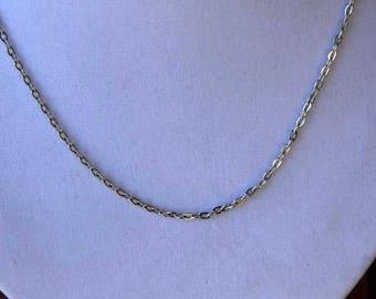 Chain 46cm chain 4x3mm flat, matte silver