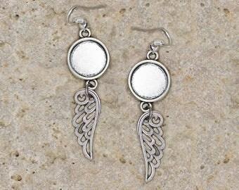 support ring 12 mm wings earrings