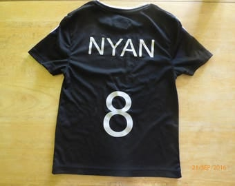 Marking name + number for t-shirt