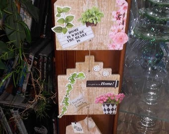 Decorative hanging scrapbooking home shape style