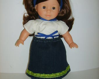 36cm doll denim skirt