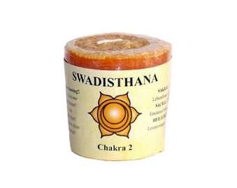 Svadhiṣhthana • sacral Chakra candle