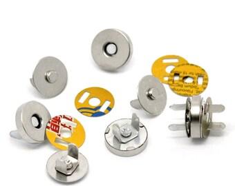 Magnetic clasps for handbags, diameter 14mm