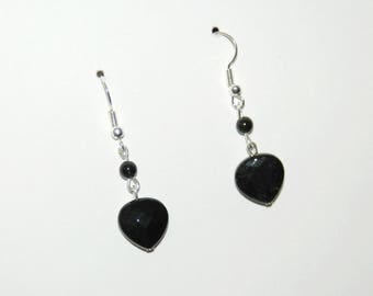 Earrings dangling hearts