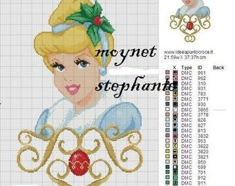pattern to knit or crochet design with a Princess