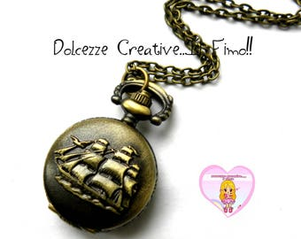 Watch necklace - vintage style - Kawaii - gift idea - ship