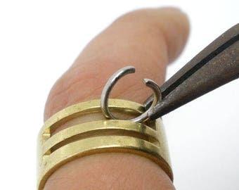 bague outil pour ouvrir les anneaux en cuivre jaune diamètre 19 mm
