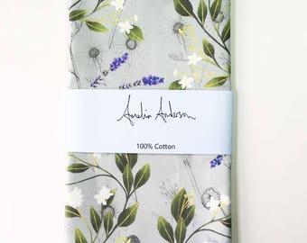 Lime Flower and Lavender Tea Towel