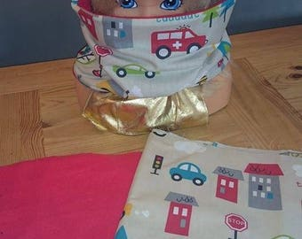 Reversible fleece and Red cotton Snood pattern vehicles