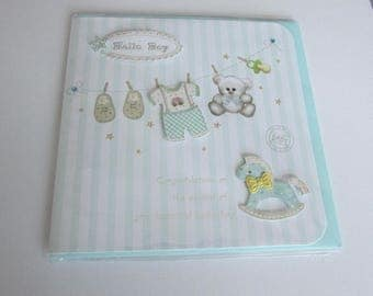 "Card ""Baby boy"" blue with envelope"