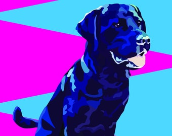 Funky Graphic Pet Art from your own photo