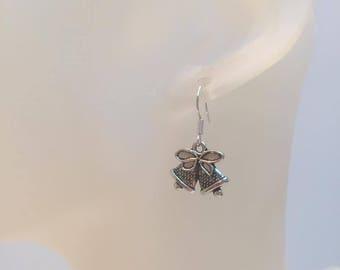 Bell charm earrings