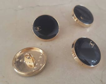 4 buttons 18 mm Chanel inspired gold tone