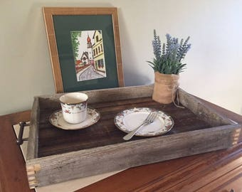 Butlers Tray, Serving Tray, Reclaimed Pine and Cedar, Gift, Kitchen, Dining Room, Decoration,