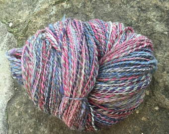 360 g hand dyed and handspun wool.