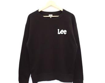 RARE!! Lee Spellout Sweatshirt Jumper Pullover Sweater Hoodies