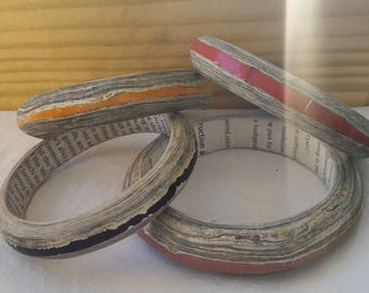 Recycled paper bracelet - Orange