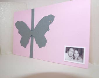 Butterfly theme wedding invitation