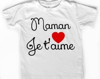"White T-shirt ""MOM I love you"""