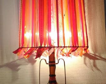 Great Bohemian Lampshade pink-orange