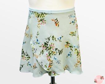 Esme - Ballet Wrap Skirt - Ballet Skirt - Dance Skirt - Floral Ballet Skirt - Flourish Dancewear
