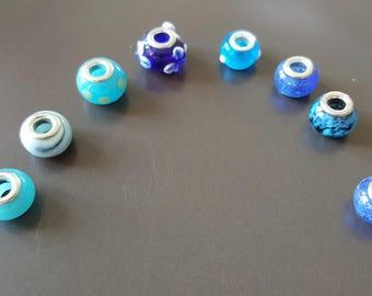 Handmade 8 European Lampwork beads