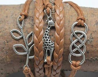 Bracelet multi strand with cords person