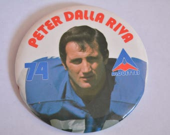 Vintage Peter Dalla Riva 74 Button Pin