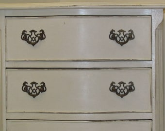 chest of drawers or Dresser, furniture extra restyled, white, soft look, handles are original