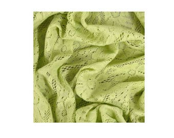 A METER OF FABRIC GREEN ANISE MACRAMÉ LACE