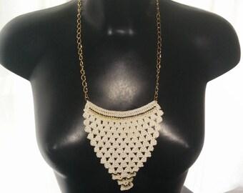 "Necklace ""ethnik"" smart crochet spirit ""pineapple"""