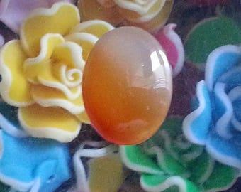 1 cabochon gemstones, Carnelian, round, oval 20x15mm