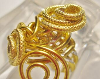 Ring for women and teens gold foil