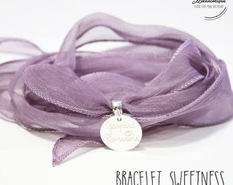 Silk SWEETNESS with engraving customized bracelet